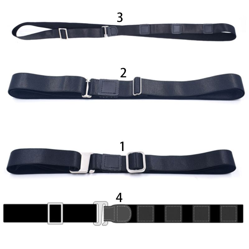 Men Women Shirt Stay Non-Slip Bandage Adjustable Wrinkle-Proof Holder Fixing Straps Locking Tucked Waist Belt Formal Office