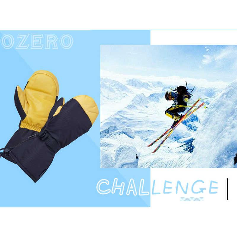 OZERO gants chauds hiver cuir de vachette Ski Ski Snowboard motoneige sport moto équitation neige Ski pour hommes femme 1017