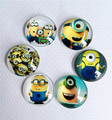 30pcs Round Despicable Me Glass Cabochon 20mm Flatback for Necklace Pendant/Hair Bow DIY accessory