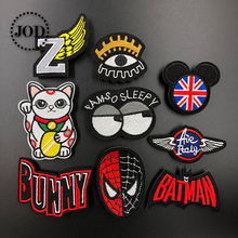 JOD* Brand Cartoon Embroidered Iron on Patches for Clothing DIY Decoration Clothes Patch Applique Stickers Fabric Badges Spider flower lace embroidery iron on stickers applique clothes patch embroidered patches for clothing rose badges fabric