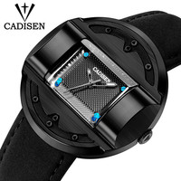 CADISEN Mens Watches Rectangle Dial Military Watch Luxury Brand Sports Quartz Watch Fashion Wristwatch Waterproof Relogio Man