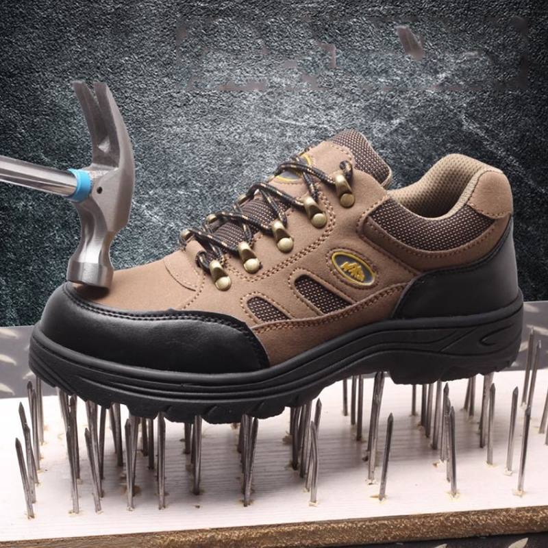 Anti-Piercing Workshoes Breathable Steel Toe Caps Work Safety Shoes Non-slip Platform Anti-puncture Tooling Boots for Man Woman hard ware industry waterproof overshoes steel toe work shoes man and woman non slip protective safety shoes cover