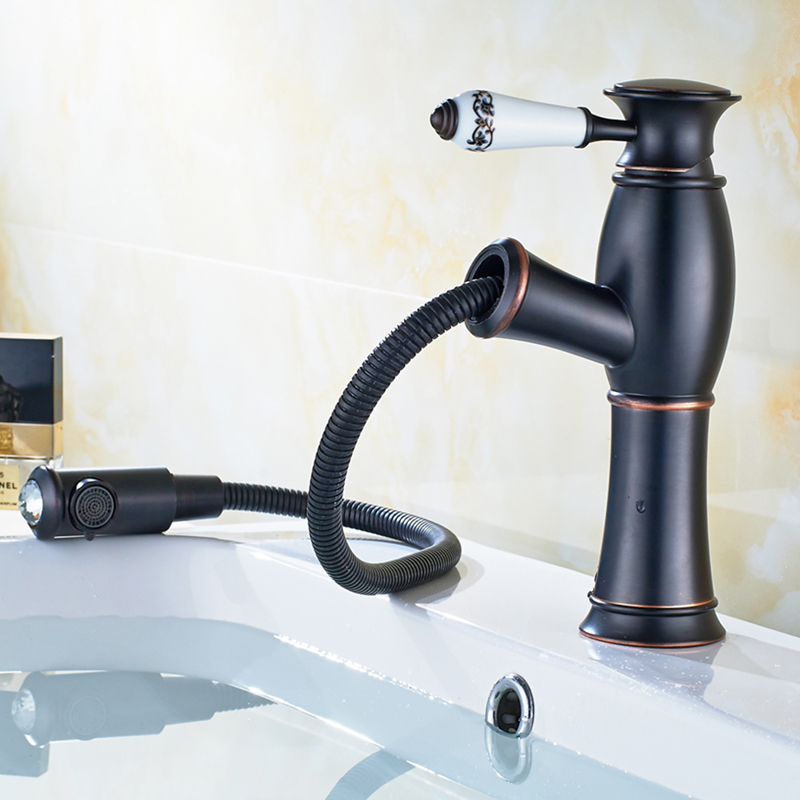 Antique black copper avatory faucet bathroom basin faucet handle new retro style ceramic bathroom faucet copper bathroom shelf basket soap dish copper storage holder silver