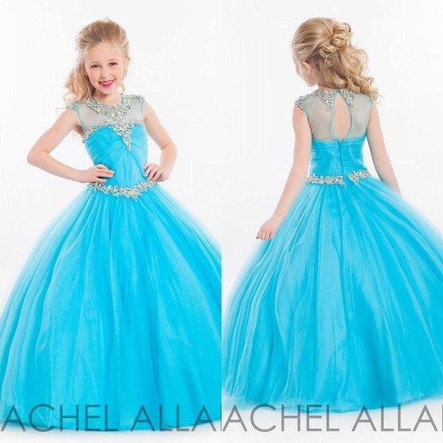 Aliexpress.com : Buy Pageant Dresses for Little Girls Sky Blue ...