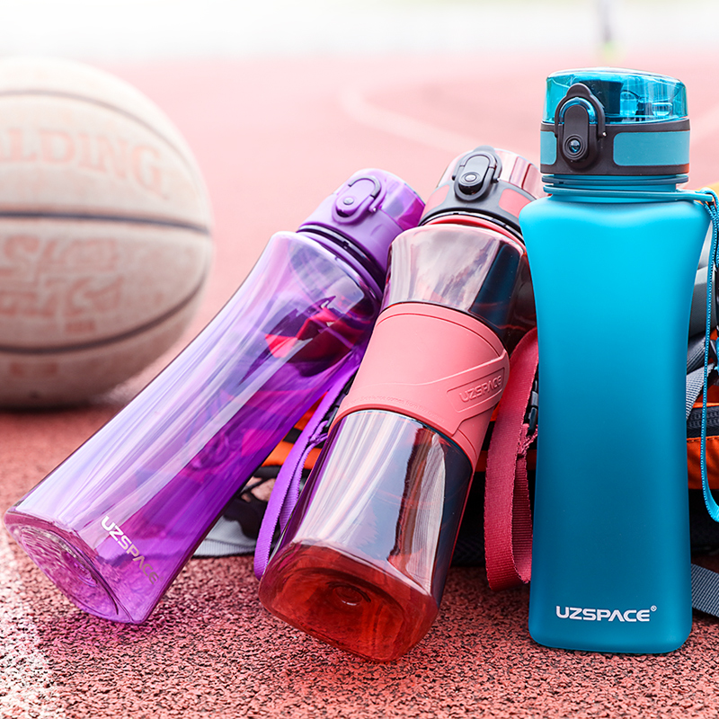 UZSPACE 500ml 3 Styles Sport Water Bottle Creative Portable Leakproof Plastic Shaker My Drink Bottle Tour Hiking Tritan BPA Free-in Water Bottles from Home & Garden on AliExpress