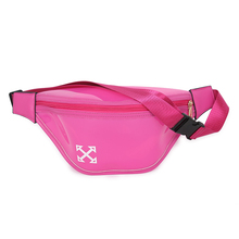 Badouqiu Candy Color PVC Transparent Fanny Pack High Quality heuptas Waist Bag Women Travel Phone Belt Pouch sac banane A4