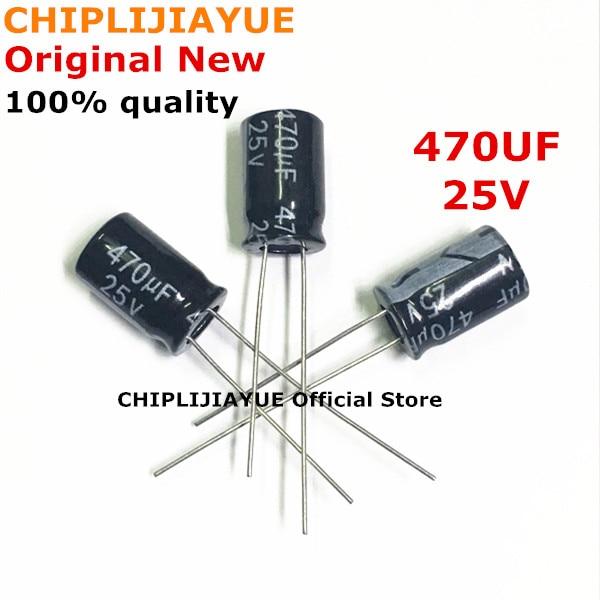 (20-100piece) 100% New Aluminum Electrolytic Capacitor 470uF 25V 8*12 8MM*12MM Electrolytic Capacitor Original IC Chip In Stock