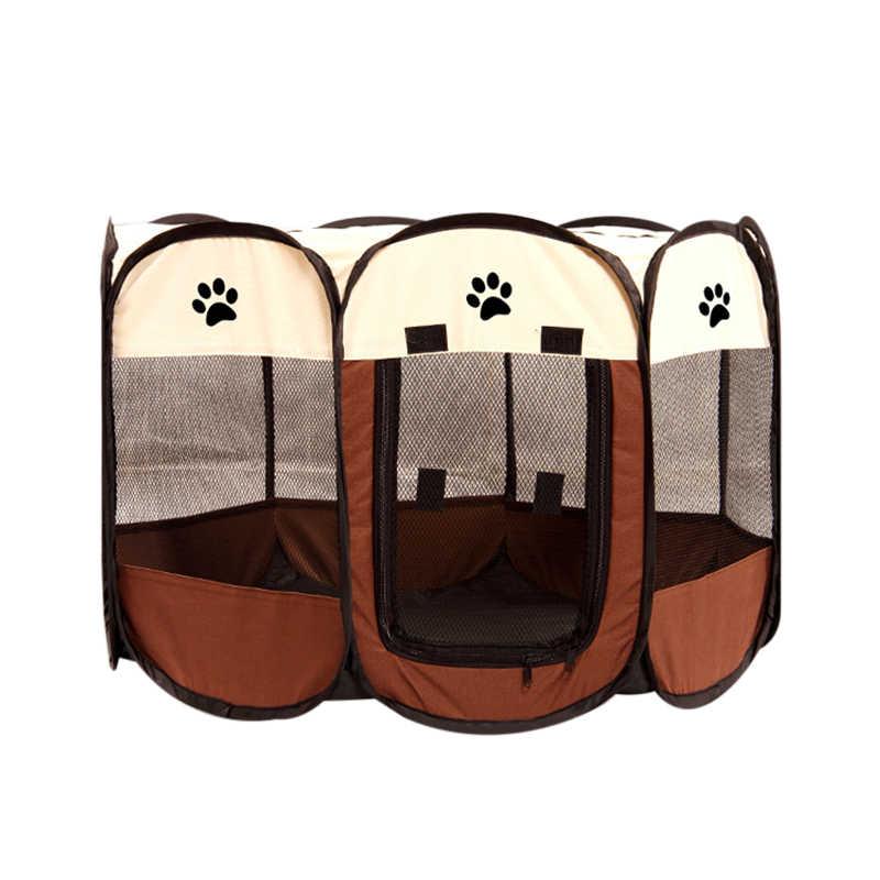 נייד מתקפל לחיות מחמד בית כלב לול חתול גדר כלוב גור מתומן לנשימה לשחק מקורה חיצוני אספקת מוצר