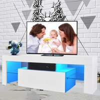 High Glossy Modern TV Unit Family TV Cabinet Desk Table Stand Home Furniture Decoration 2000*350*450mm Free LED