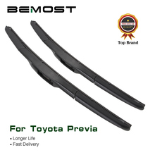 BEMOST Auto Car Wiper Blade For Toyota Previa Fit Hook Arm 2000 2001 2002 2003 2004 2005 2006 2007 2008 2009 2010 2011 2012 2013 aluminum radiator fit for toyota cellica gt gts 2000 2005 2row manual
