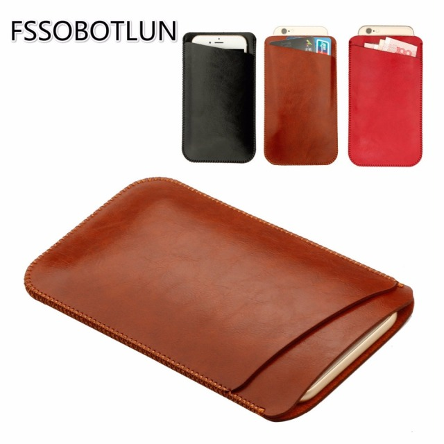 online store f8741 81d5e US $9.59 31% OFF|For iphone 8 8 Plus 4.7 5.5inch Luxury Quality Microfiber  Leather Sleeve Pouch Phone Bag Case Cover with slot For iphone X 5.8