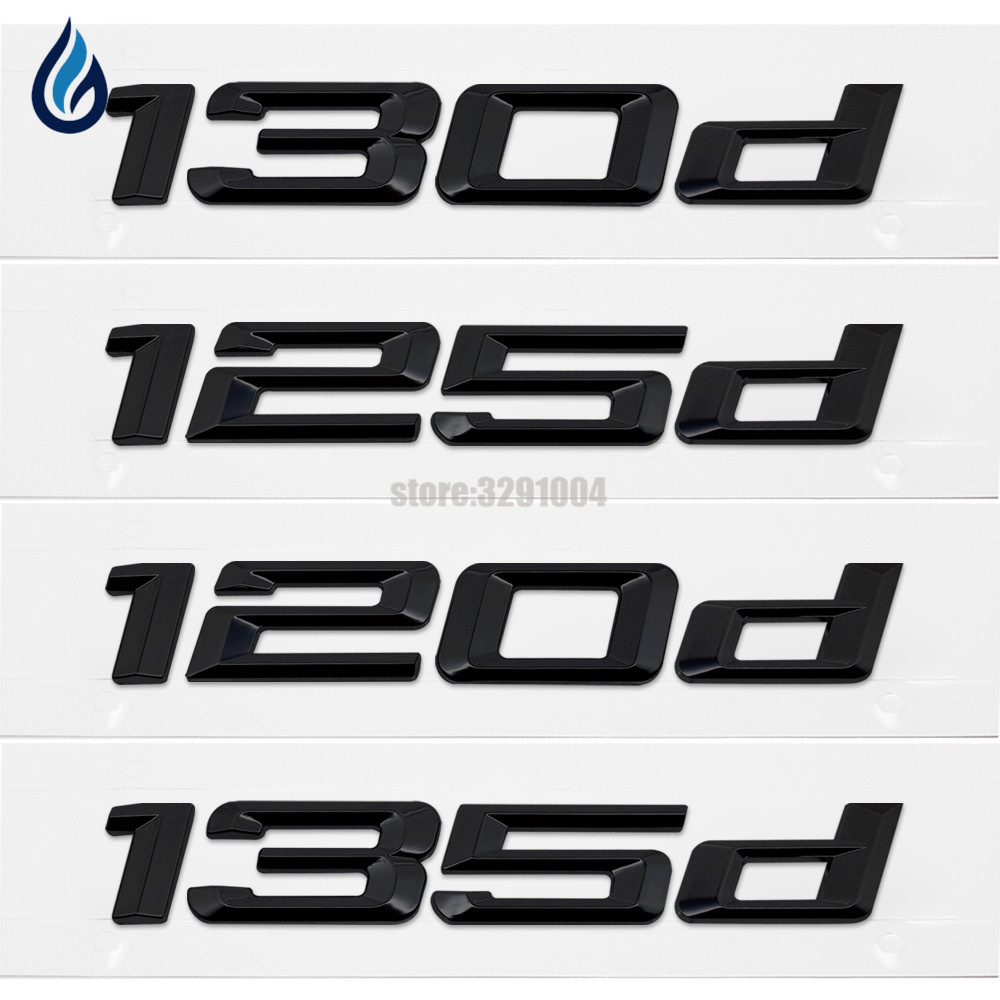 Car Trunk Rear Emblem Logo Stickers Badge Chrome Letters 120d 130d 125d 135d For BMW 1 Series E87 E81 E82 E87 E88 F20 F21