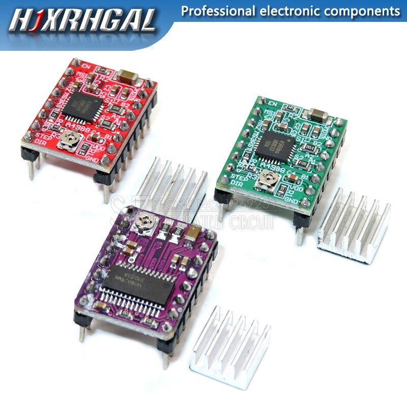 For 3D Printer Parts Stepstick A4988 DRV8825 Stepper Motor Driver Module With Heatsink Reprap Ramps 1.4/1.5/1.6 Control Board