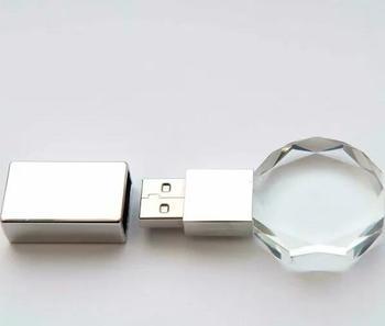 Custom logo usb 2.0 unique design crystal usb memory flash stick