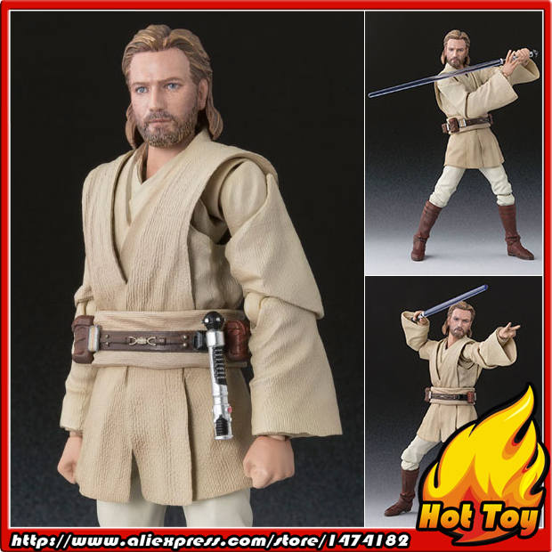 "Original BANDAI Tamashii Nations S.H.Figuarts (SHF) <font><b>Action</b></font> <font><b>Figure</b></font> - <font><b>Obi-Wan</b></font> <font><b>Kenobi</b></font> (ATTACK OF THE CLONES) from ""<font><b>Star</b></font> <font><b>Wars</b></font>"""