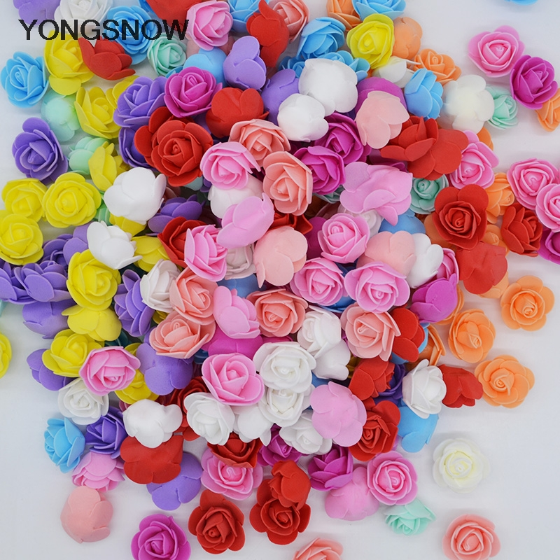 50 шт. 3 см мини-роза цветы для мыльной пенки Медведь роз украсить Искусственные цветы Роза голова Роза пресс-форма мишки день матери цветок