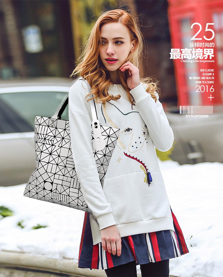 European big tote bao bao bag fashion Handbags 17 Women Hand Bag Luxury Brand Designer Geometric laser baobao Bag ladies 1