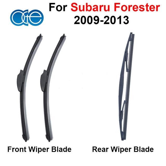 Combo da Borracha de Silicone MK Lâminas Do Limpador Dianteiro E Traseiro Para Subaru Forester 3 2009-2013 Acessórios Do Carro Brisas