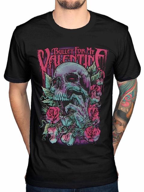 Bullet For My Valentine Skull Red Eyes T Shirt Men Band Merch