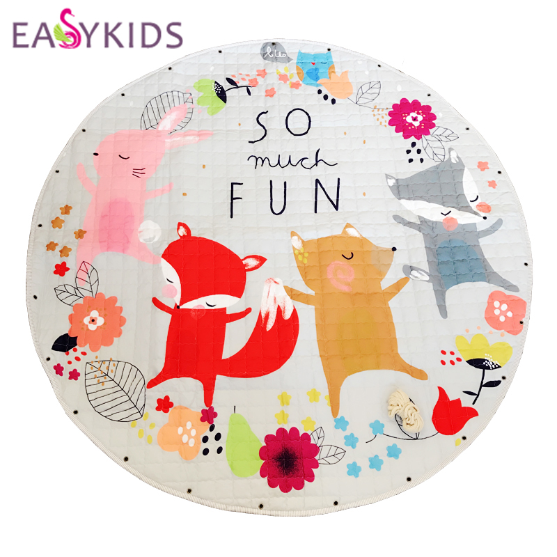 EASYKIDS Baby Play Mats Bag Round Rugs Carpet kids Toys
