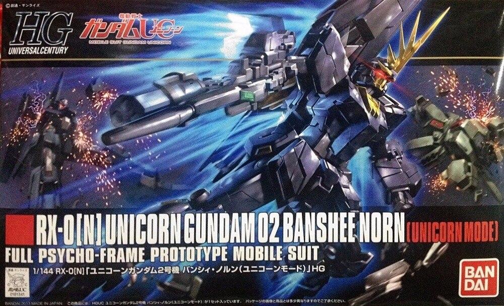 1PCS Bandai 1/144 HGUC 153 RX-0[N] O2 Banshee Norn Gundam Mobile Suit Assembly Model Kits lbx toys education toys ohs bandai rg 27 1 144 unicorn gundam 02 banshee norn rx 0 full psycho frame mobile suit assembly model kits