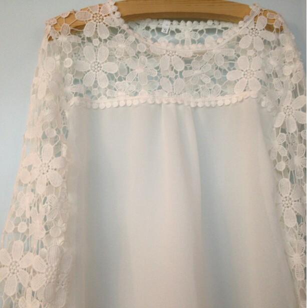HTB1EQd7HXXXXXXQXVXXq6xXFXXXj - Autumn Elegant Women White Lace Blouses Floral