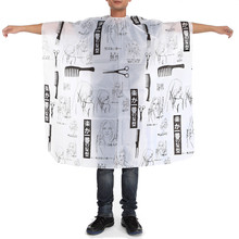 Hair Design Cut Salon Barber Nylon Sketch Gown Cape Cloth Waterproof hairdresser hairdressing cape hair cutting cape Capes Tools 1 pcs random color best new sketch hair salon cutting barber hairdressing cape for haircut hairdresser apron cutting hair capes