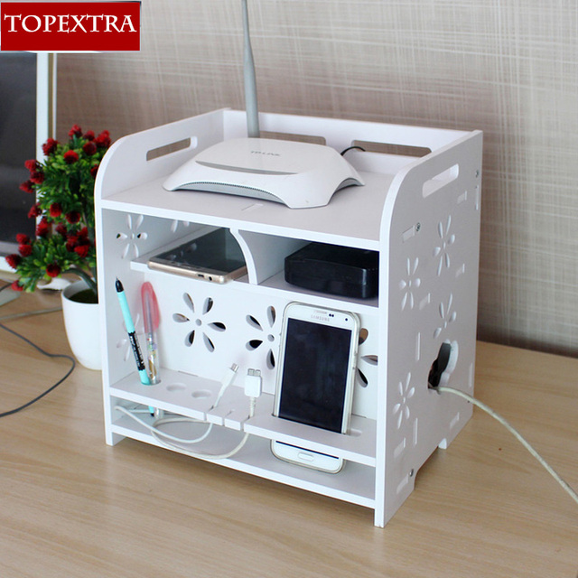 TOPEXTRA Non Formaldehyde Large Storage Box Cable Box Lacquer DIY ...