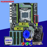 HUANANZHI X79 Pro motherboard with DUAL M.2 slot video card GTX1050Ti 4G CPU Xeon E5 1650 C2 with 6 tubes cooler RAM 16G(4*4G)