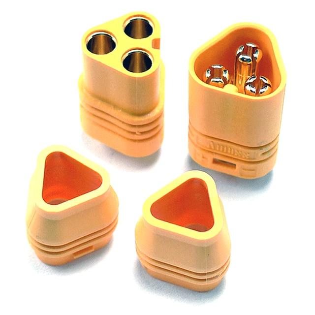 MT60 enchufe amarillo tres fases conector polar 3,5mm macho y hembra para RC ESC a Motor