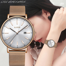 2019 LIGE Top Brand Luxury Ladies Watch Dating Business Quartz Hand Casual Fashi