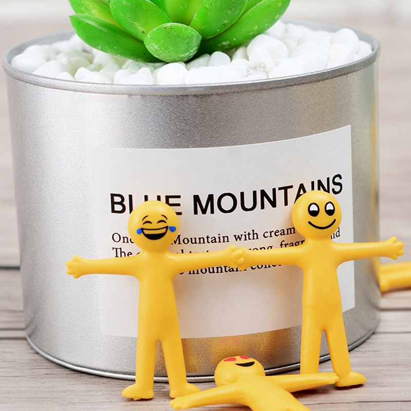 1pc Squeeze Toys Magic Vent Toys Stress Reliever Smiley face Toy Squish Novelty Funny Stretchable Foldable Office Decoration