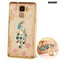 Huawei honor 7 case Роскошный Горный Хрусталь Держатель Стенд Телефон Case Обложка Для Huawei Honor 7 Ультра-тонкий Силиконовый diamond Case cover