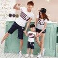 2017 moda mãe e filha filho pai roupas clothing família olha família correspondência t-shirt de algodão criança verão jd020