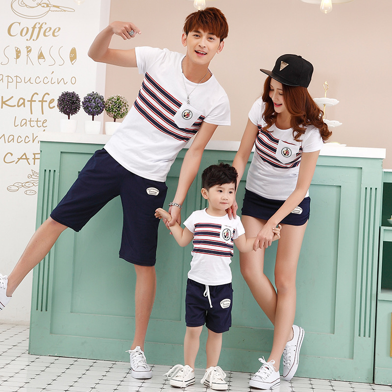 b6964c9e01f9 2018 fashion mother and daughter son father clothes matching family  clothing family look summer child cotton T-shirt jd020
