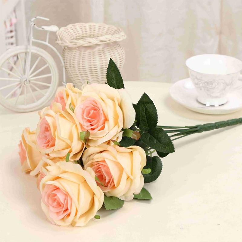 1 μπουκέτο τεχνητό λουλούδι 9 κεφαλές - Προϊόντα για τις διακοπές και τα κόμματα - Φωτογραφία 6