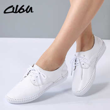O16U Summer women Espadrilles ballet flats shoes Leather Lace-up soft comfortable ladies casual shoes peach white black B16 - DISCOUNT ITEM  45 OFF Shoes