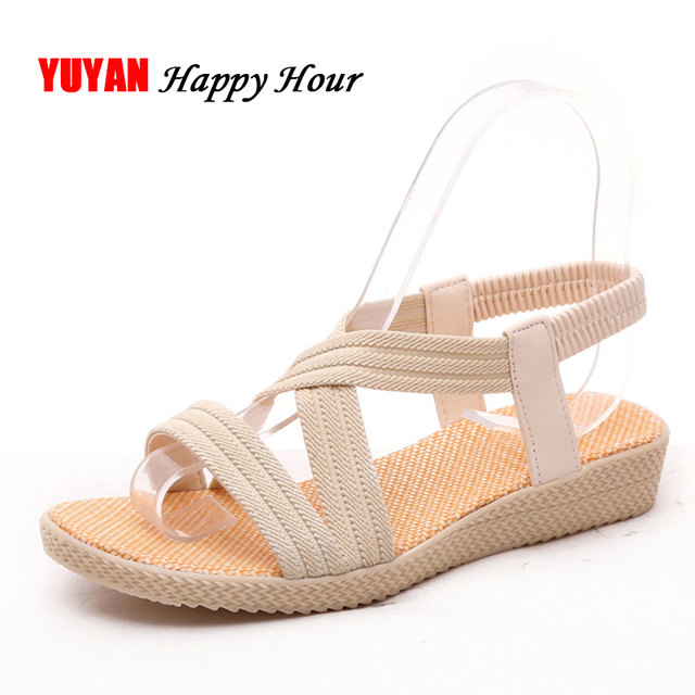 de48c32015 New 2018 Summer Sandals Women Soft Small Wedge Heel Sandals Fashion Women's  Sandals Ladies Brand Summer Shoes 3cm Heels ZH2148