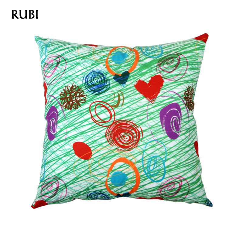 Discount Designer Home Decor sunbrella outdoor home decor fabric discount designer fabric Rubi Gift Love Designer Green Decorative Cushion Covers Throw Pillow Case Sofa Home Decor Capa De