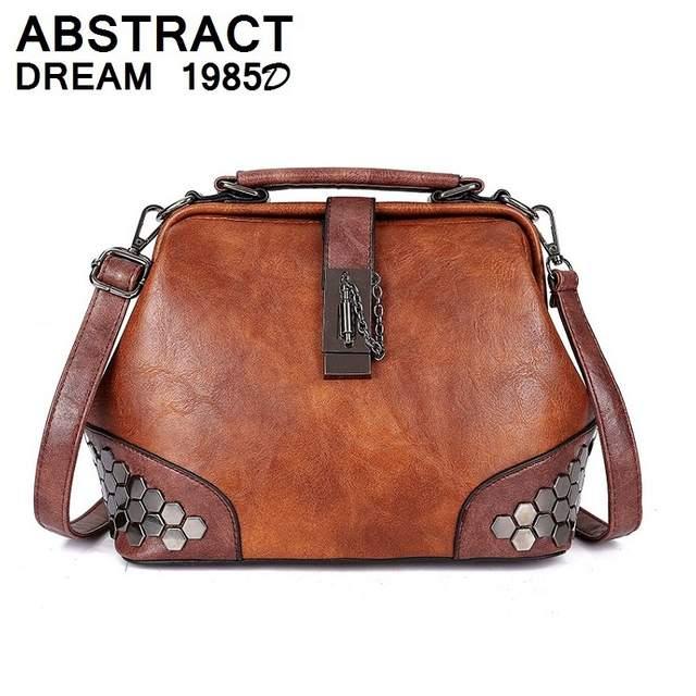ca6abad72cd placeholder women handbag fashion Hasp quality Classic brand handbag Rivet  2019 Korean Messenger bags Ladies Dumpling leather