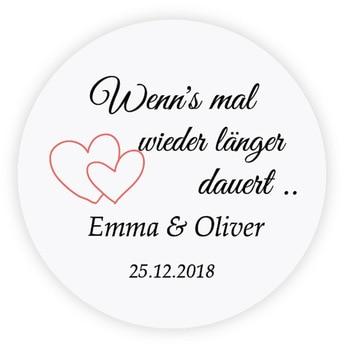 Pegatinas de boda personalizadas de 4 cm DouxArt 100 piezas, doble Corazón, etiqueta de invitación de fiesta de boda, comunión P116