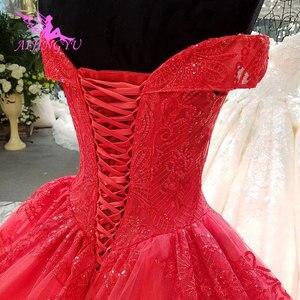 Image 3 - AIJINGYU Hochzeit Empfang Kleid Fett Größe Sexy Designer Dubai Strass Perle Kleid Bodenlangen Braut Tragen Kleider