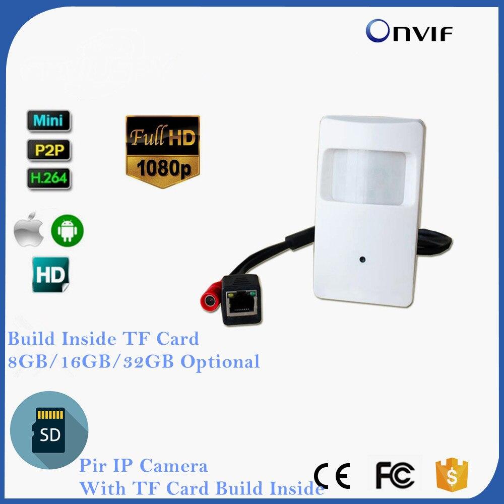 ONVIF 2,0 мегапиксельная Pir детектор движения Pir Стиль Ip Камера тайное ПИР IP Камера для 1080 P мини IP Камера слот для карты SD