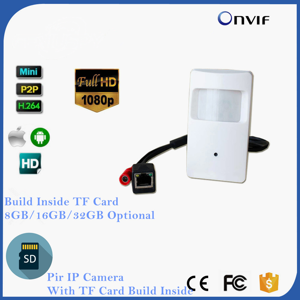 ONVIF 2.0 Megapixel Pir Motion Detector Pir Style Ip Camera Covert PIR IP Camera For 1080P MINI IP Camera SD Card SlotONVIF 2.0 Megapixel Pir Motion Detector Pir Style Ip Camera Covert PIR IP Camera For 1080P MINI IP Camera SD Card Slot