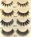 4 pairs/lot faux mink lashes Handmade false eyelash 3D strip mink eyelashes thick fake faux eyelashes Makeup beauty