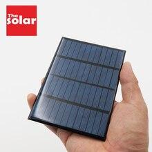 12 V 1,5 W поликристаллический кремний DIY Батарея кремния Панели солнечные Стандартный эпоксидной Мощность зарядный Модуль 115x85 мм Мини Солнечная батарея