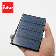 Painel solar de silicone diy, bateria polycrystalline diy 12 v 1.5 2 3 4.2 7 w, módulo de carga de energia epóxi padrão 115 mini célula solar x 85mm