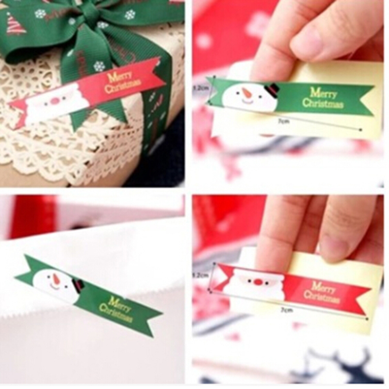 120pcs Merry Christmas Santa clause Snowman Seal Sticker Badge tags Labels Seal Envelope Gift Box packaging Wrapping
