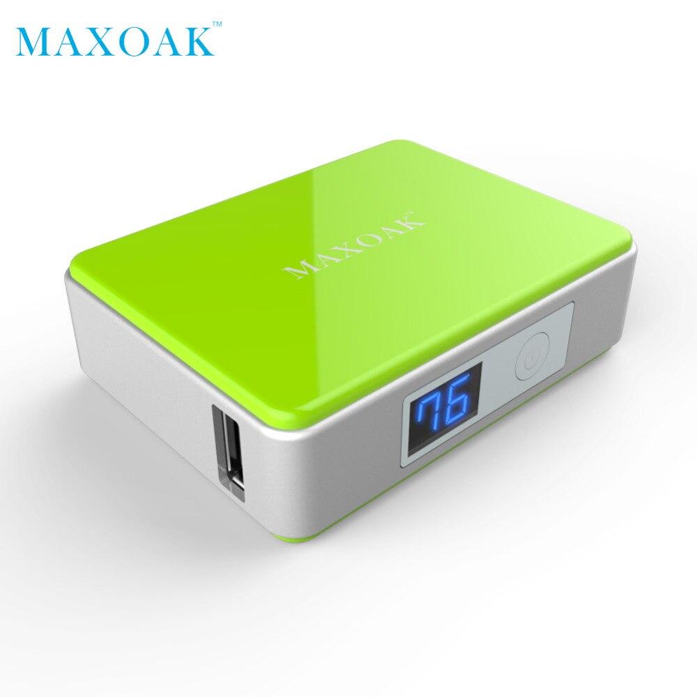 MAXOAK portátil banco de potência USB Único DC 5V-2.1A 5200 mAh várias Cores de telefone banco do poder para o telefone móvel