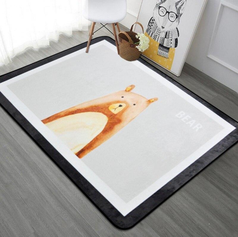 Animali Area Rug Carpet Gatto Orso Deer Fox Tappeto per Bambini camera da letto Del Gioco Del Bambino Stuoia Strisciante Stuoia del Gioco per I Bambini Del Gioco Del Bambino Pad